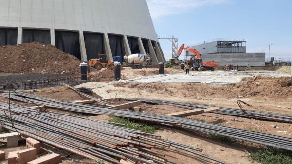 Ростовская АЭС: построен первый блок вентиляторных градирен для энергоблока №3