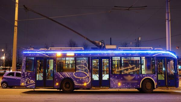 Общественный транспорт в новогоднюю ночь будет работать в режиме выходного дня