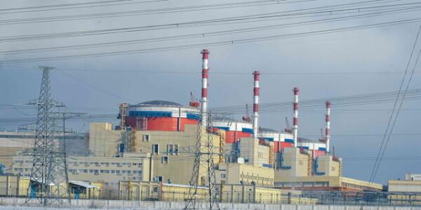 Ростовская АЭС: выработка электроэнергии в январе увеличилась на 25 процентов