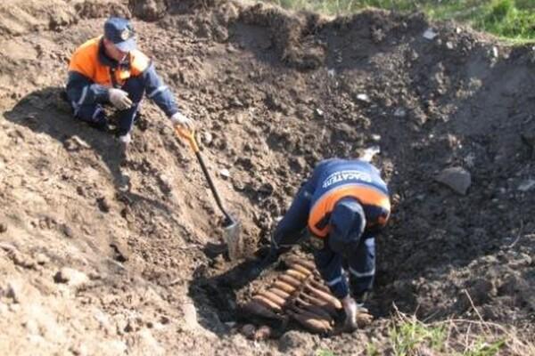 С начала года на территории Ростовской области обнаружено 19 взрывоопасных предметов
