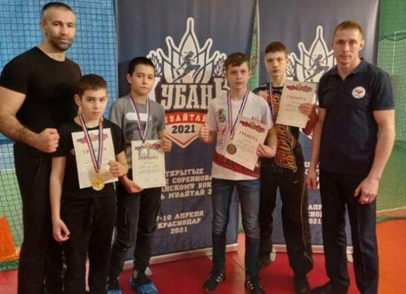Волгодонцы привезли пять медалей с открытого первенства «Кубань Муай Тай-2021» по тайскому боксу
