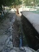 На улице Весенней продолжаются аварийно-восстановительные работы на подводящем коллекторе