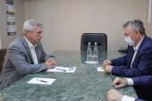 Василий Голубев и Виктор Мельников обсудили актуальные вопросы развития Волгодонска