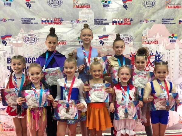 Юные танцовщицы из Волгодонска покорили жюри Всероссийского чемпионата