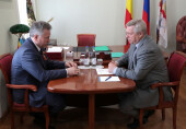 С рабочим визитом наш город посетил губернатор В.Ю.Голубев
