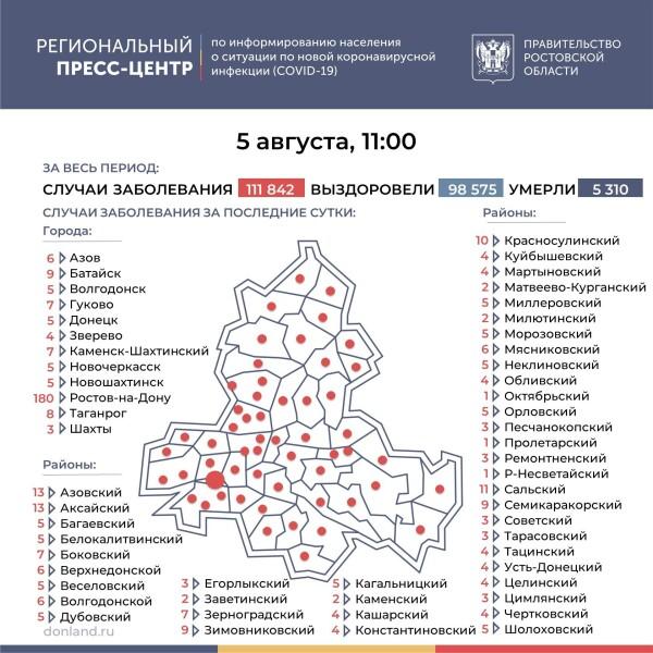 Число инфицированных COVID-19 на Дону выросло на 456