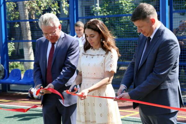 На Молодежной открылась новая спортплощадка