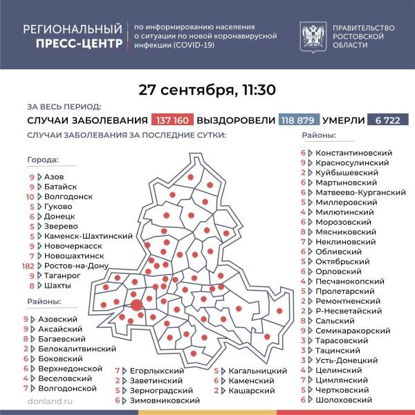 Число инфицированных COVID-19 на Дону увеличилось на 485