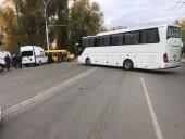 Есть пострадавшие: в Волгодонске междугородний автобус протаранил маршрутку